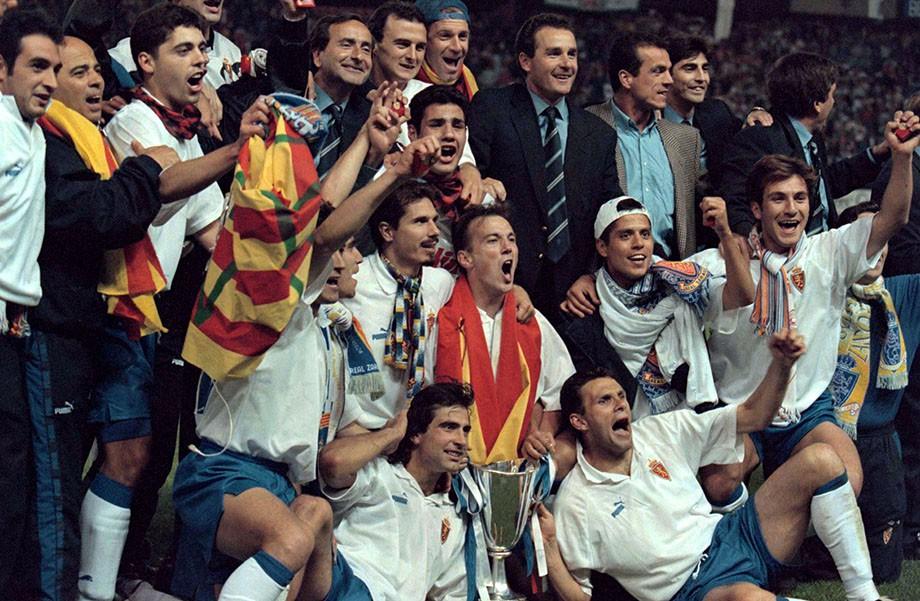1995 год. «Сарагоса» празднует победу в Кубке кубков