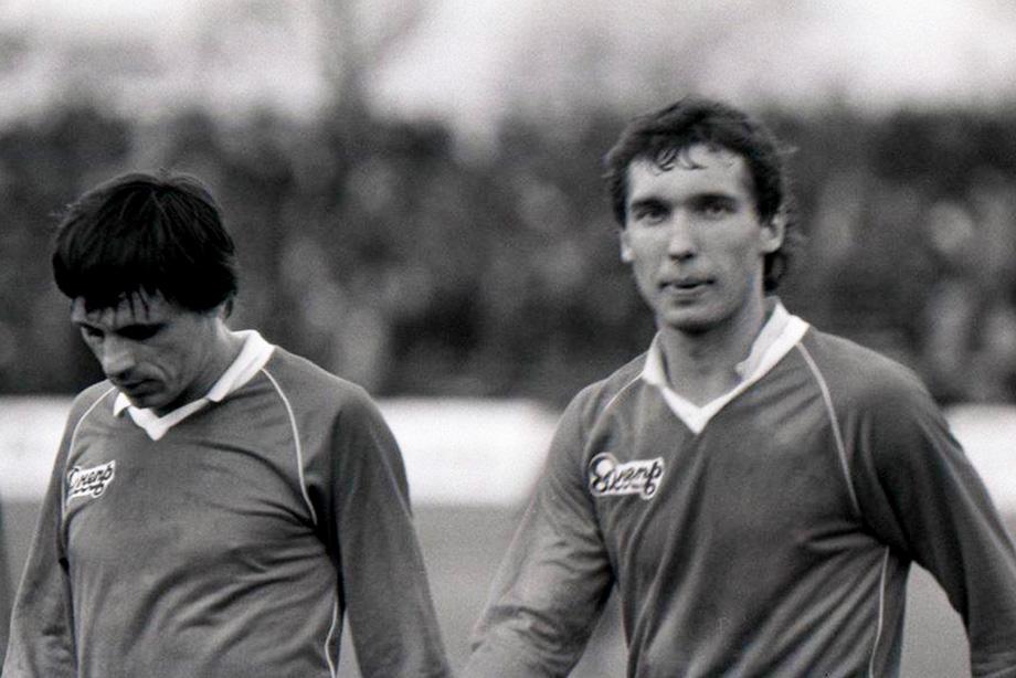 Олег Протасов (справа) — лучший бомбардир «Днепра» второй половины 1980-х