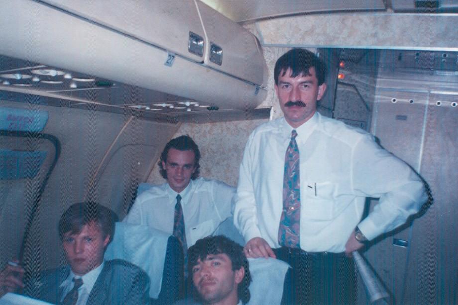 Слева направо: Игорь Колыванов, Игорь Шалимов, Игорь Добровольский и Станислав Черчесов