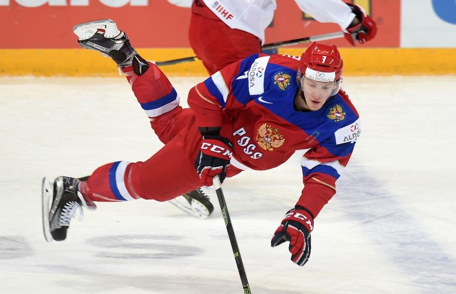 Евгений Свечников в форме сборной России