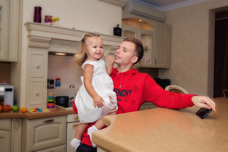 Роман Шишкин с дочерью Марианной