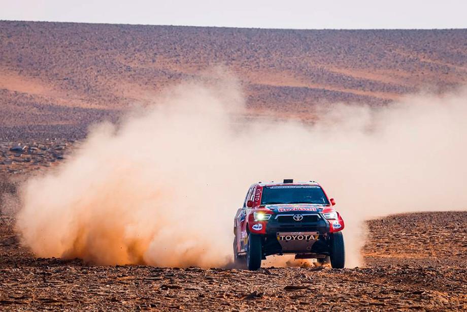 Нассер Аль-Аттия на восьмом этапе