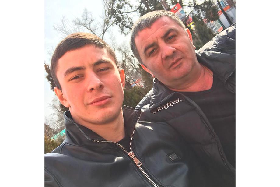 Алексей Татаев с отцом Гочей