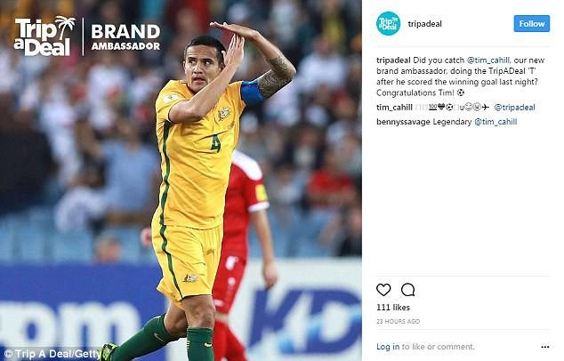 ФИФА может расследовать жест Кэхилла после гола за сборную Австралии