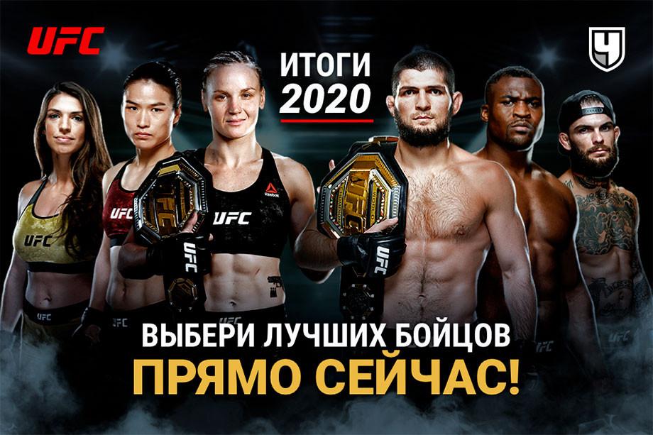 Лучшие бойцы UFC по итогам 2020 года. Рейтинг бойцов ЮФС от читателей «Чемпионата»