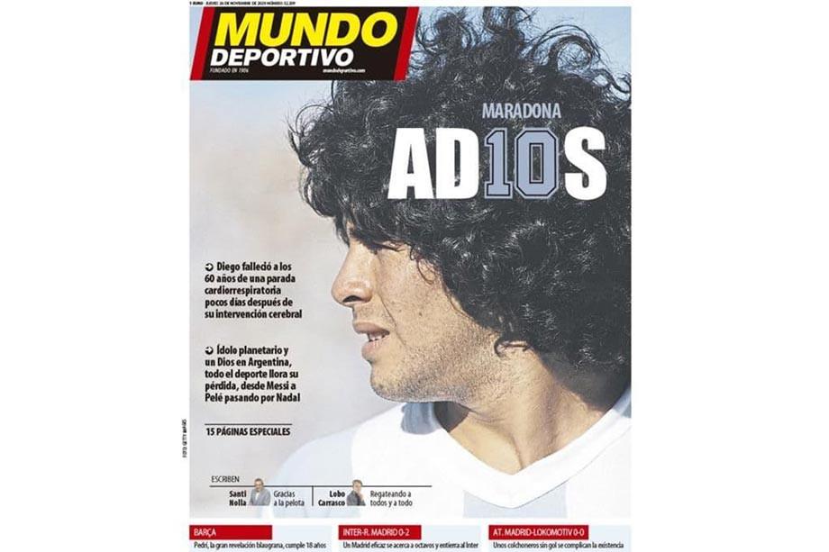 Обложки журналов и газет – о смерти аргентинского футболиста Диего Марадоны