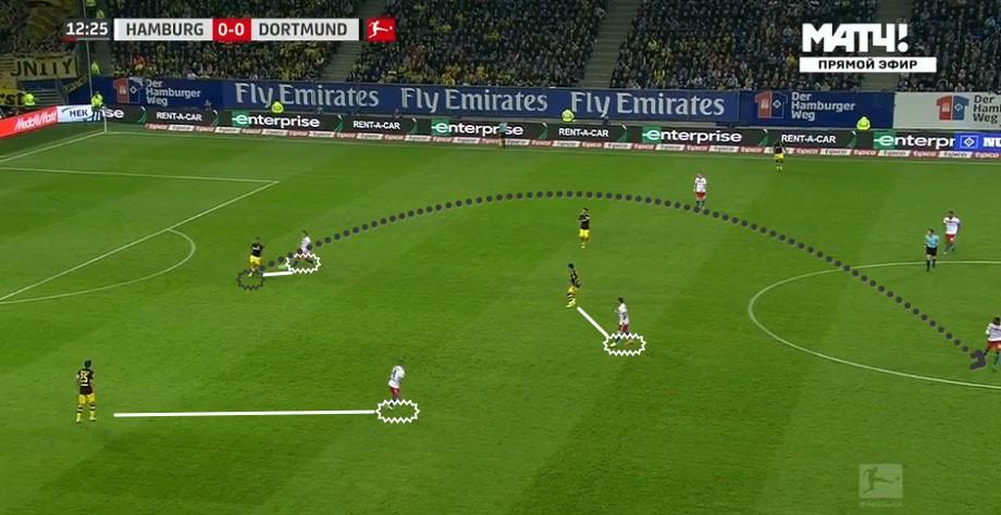 Даже «Гамбург» навязал Дортмунду трудности