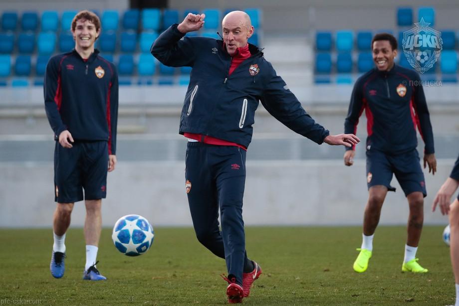Тренировка ЦСКА на базе «Реала» в Мадриде