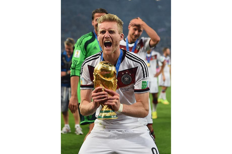Andre Schürrle with the World Cup