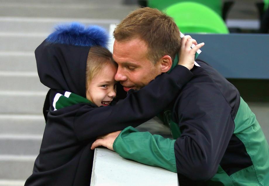 Роман Шишкин с дочерью