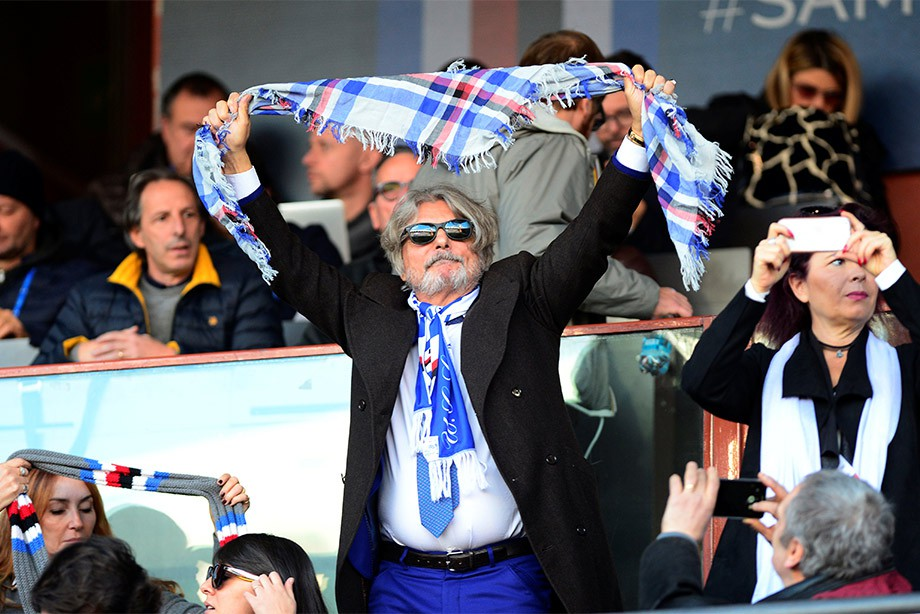 Президент «Сампдории» Массимо Ферреро