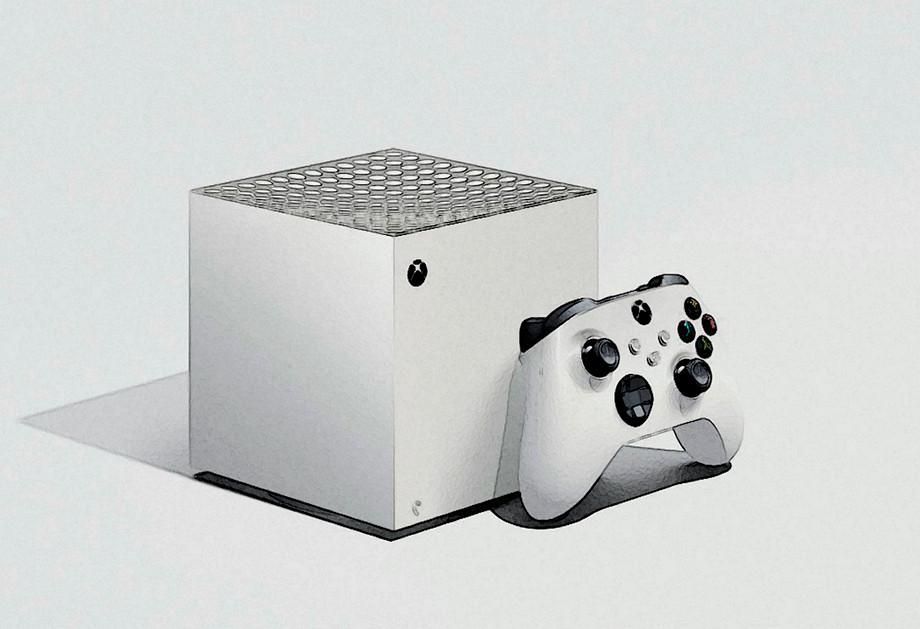 Макет того, как может выглядеть Xbox Series S