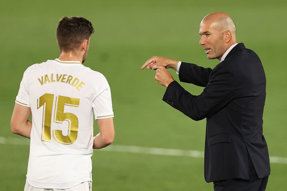 Fede Valverde and Zinedine Zidane
