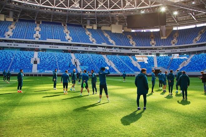 «Зенит» провёл первую тренировку на стадионе «Санкт-Петербург»