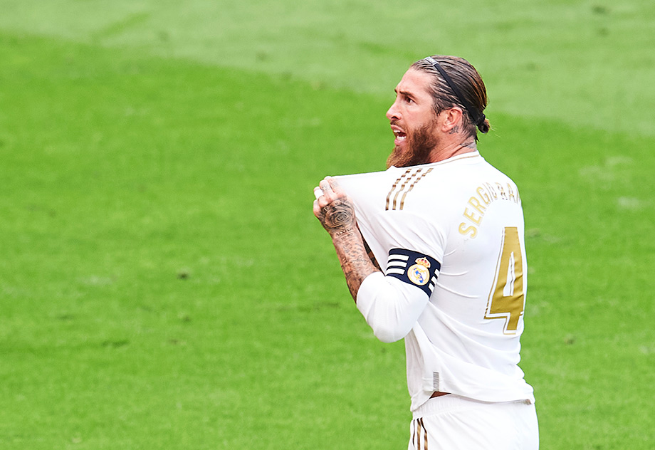 Sergio Ramos after another goal scored
