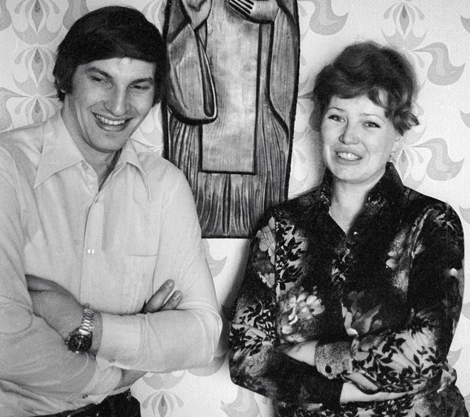 Владислав Третьяк и Татьяна в советское время
