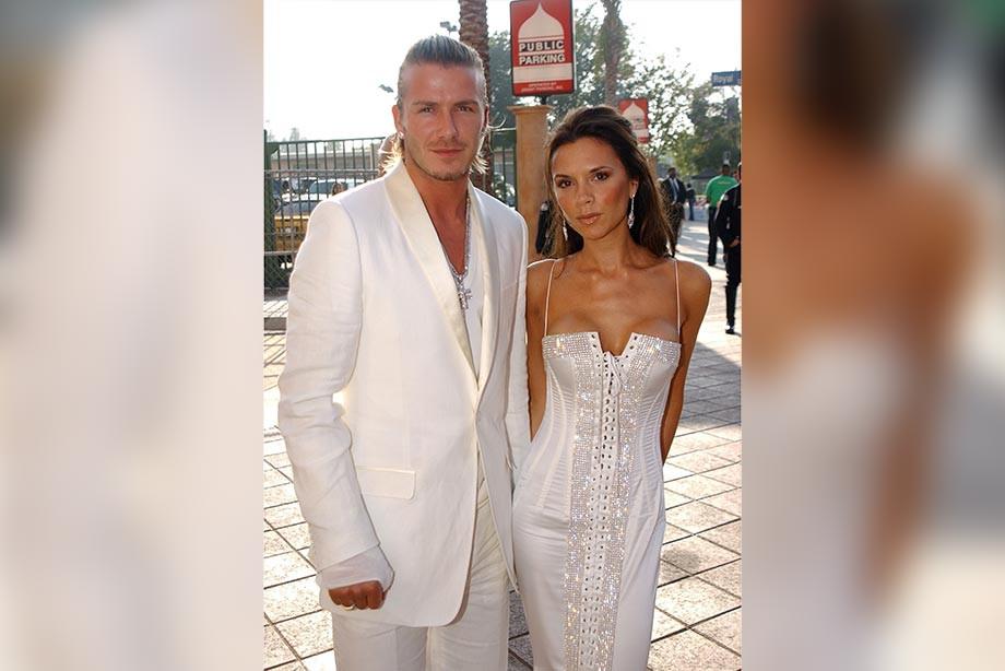 Дэвид Бекхэм с женой Викторией