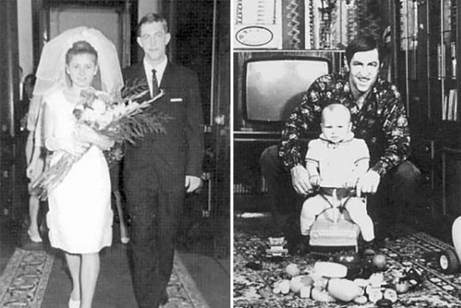 Борис Михайлов с женой и ребёнком