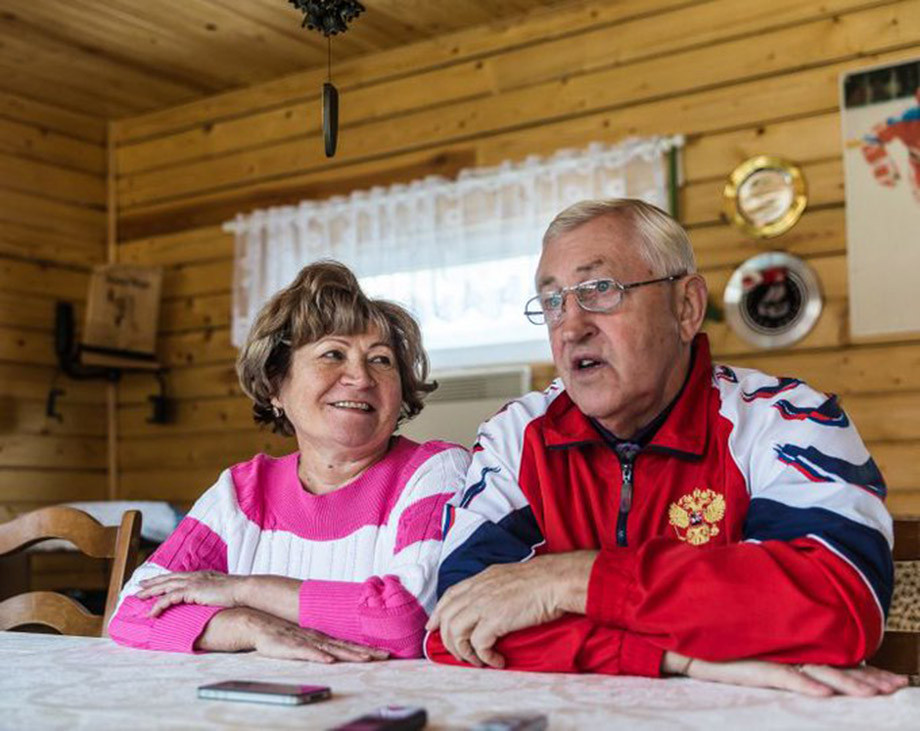 Борис Михайлов с женой Татьяной