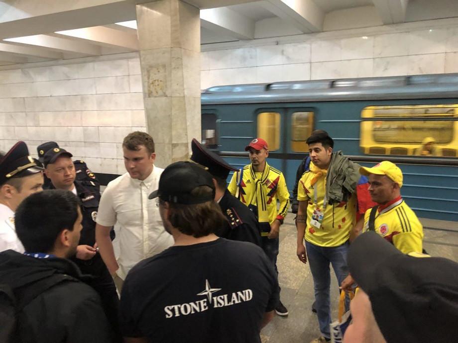 Болельщики сборных Колумбии и Англии подрались в московском метро