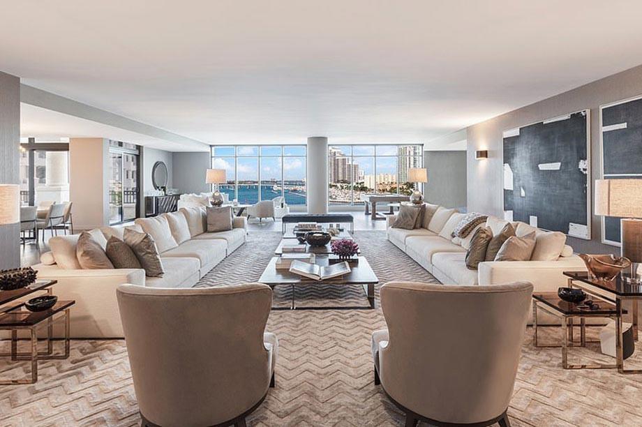 Апартаменты Каролины Возняцки на острове в Майами, которые она продаёт за $ 17,5 млн. Фото, видео