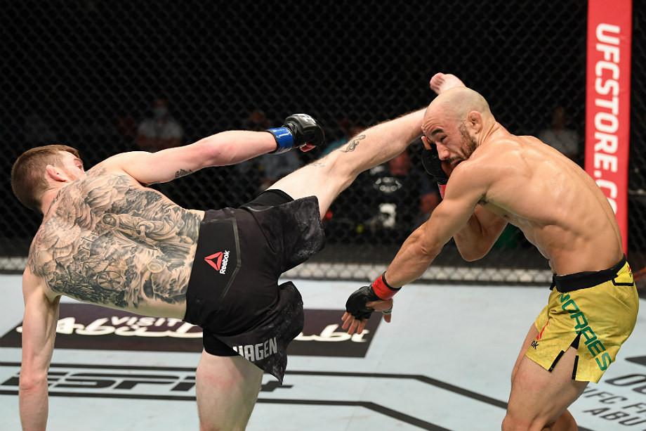 Кори Сэндхаген — Марлон Мораес — обзор боя UFC Fight Night, нокаут ударом ногой, видео боя