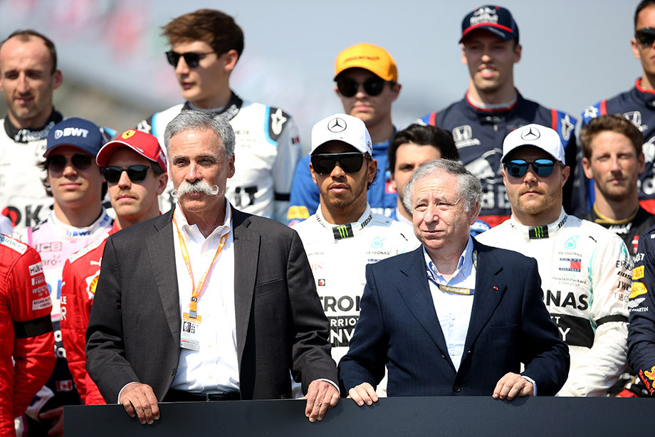 Исполнительный директор «Либерти» Чейз Кэри и президент ФИА Жан Тодт.