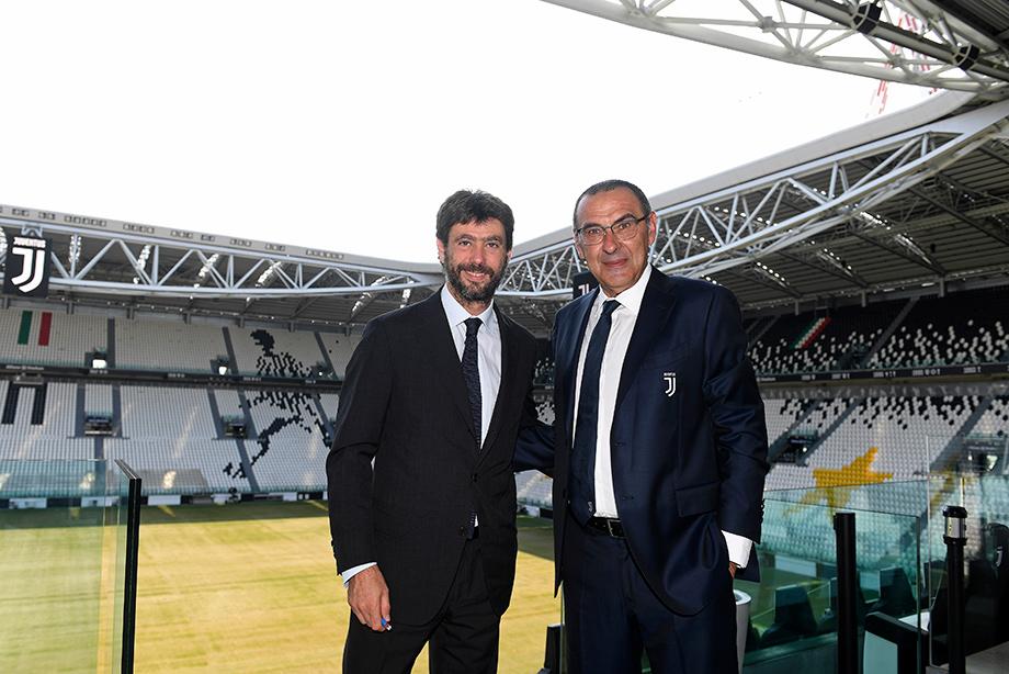 Maurizio Sarri and Andrea Agnelli