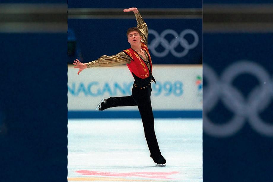 Алексей Ягудин на Олимпиаде в Нагано