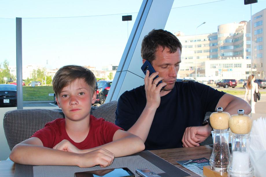 Виктор Гончаренко с сыном Артёмом
