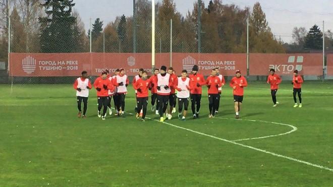 Зобнин начал тренировку в общей группе «Спартака»