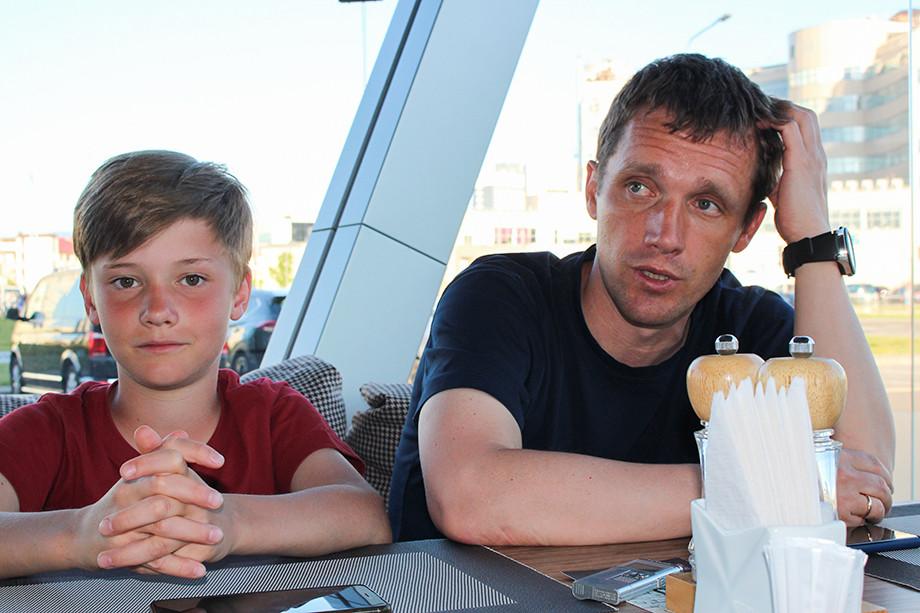 Виктор Гончаренко с сыном