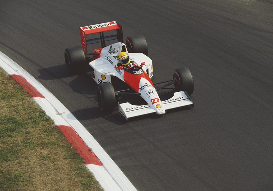 Айртон Сенна на Гран-при Италии-1990