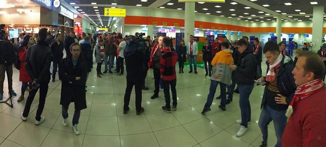 Фанаты «Спартака» в Шереметьево