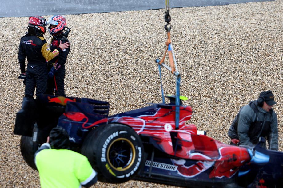 Спид и Льюцци после вылета на Гран-при Европы