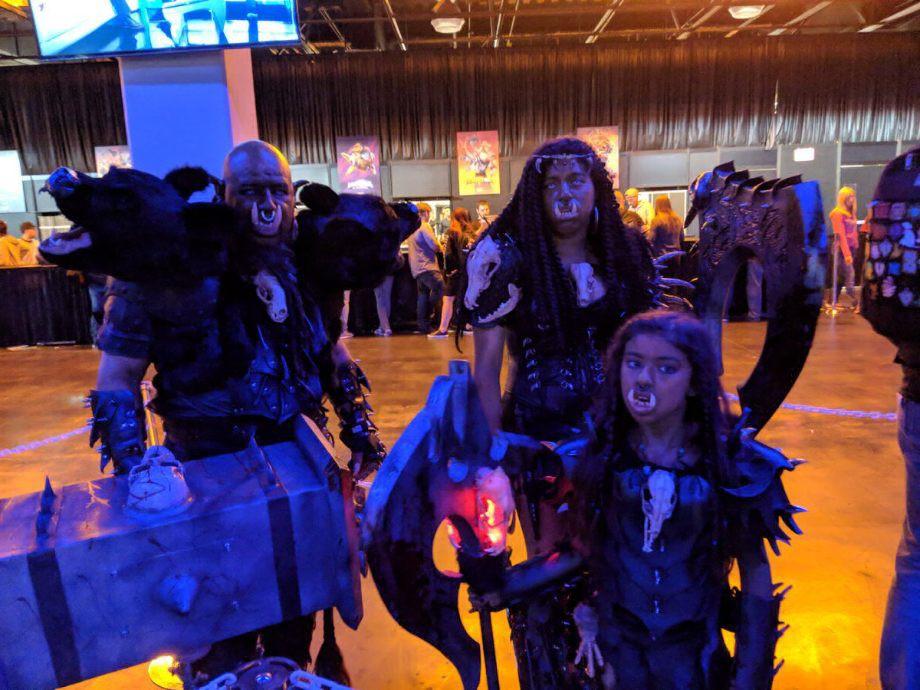 Семейный косплей орков из WarCraft