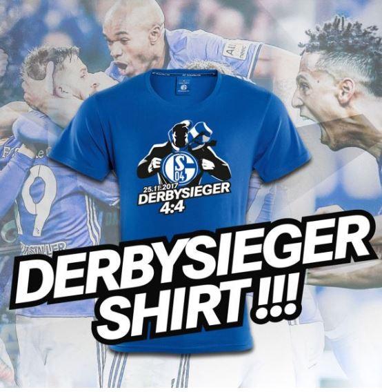 «Шальке» выпустил специальные футболки в честь камбэка в матче с «Боруссией»