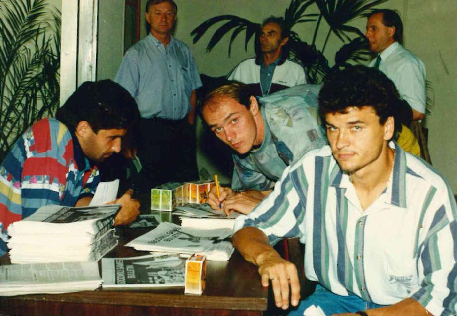 Рамиз Мамедов с Виктором Онопко и Юрием Никифоровым