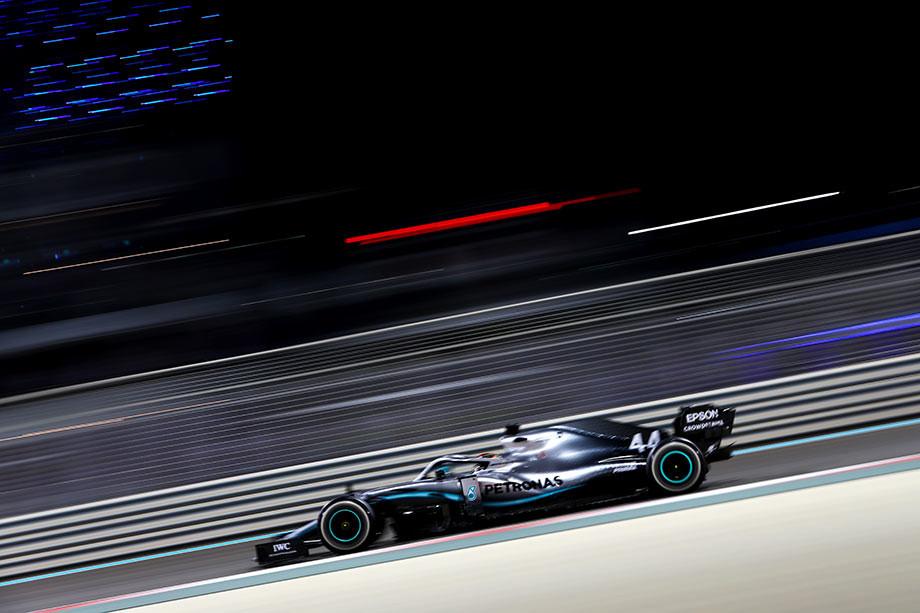 Льюис Хэмилтон на Гран-при Абу-Даби