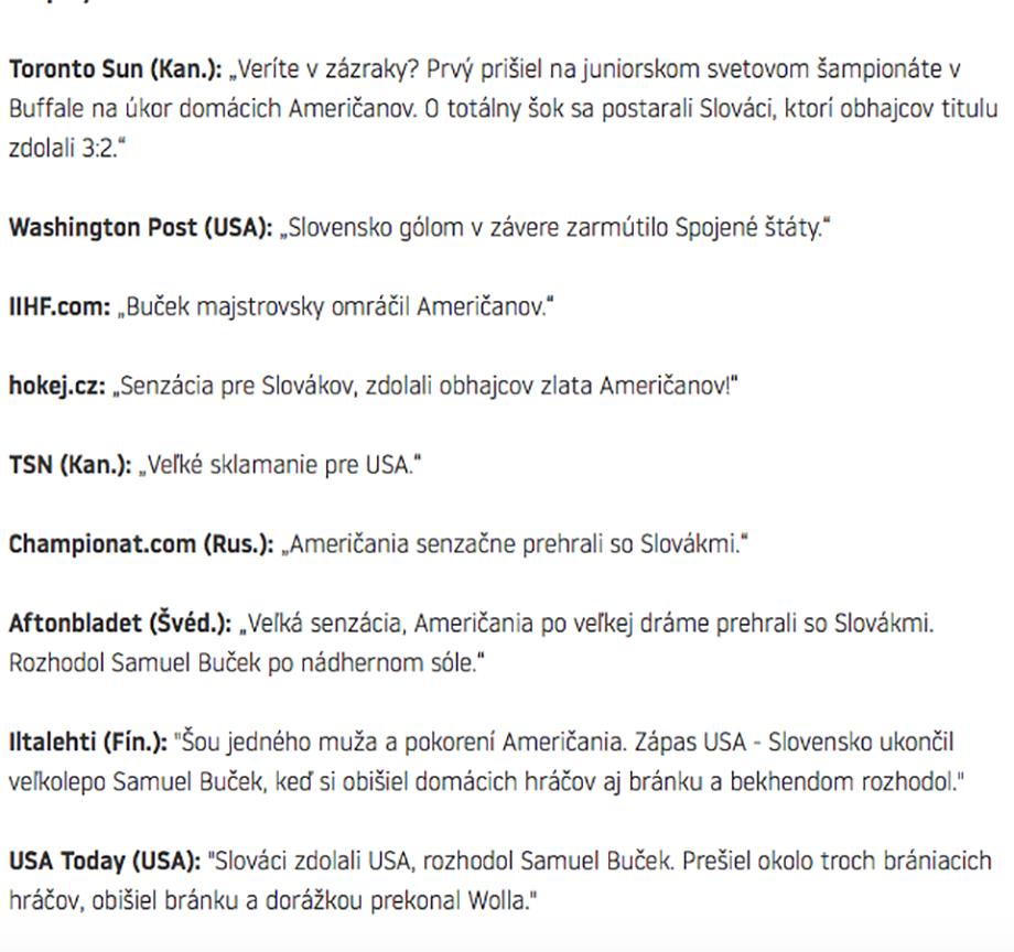 Сборная США проиграла Словакии намолодежном чемпионате мира похоккею