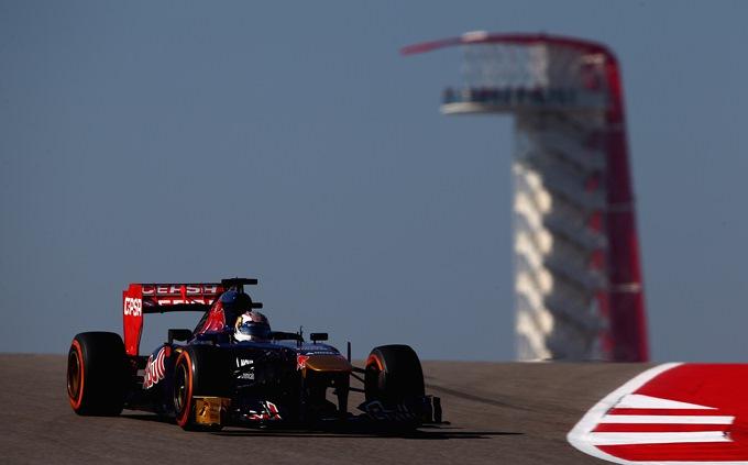 """Квят за рулём """"Торо Россо"""" в пятничной тренировке на Гран-при США"""