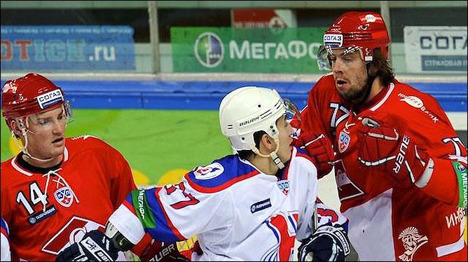 02.11.2010. КХЛ. Спартак - Сибирь - 0:1. Фото 03.