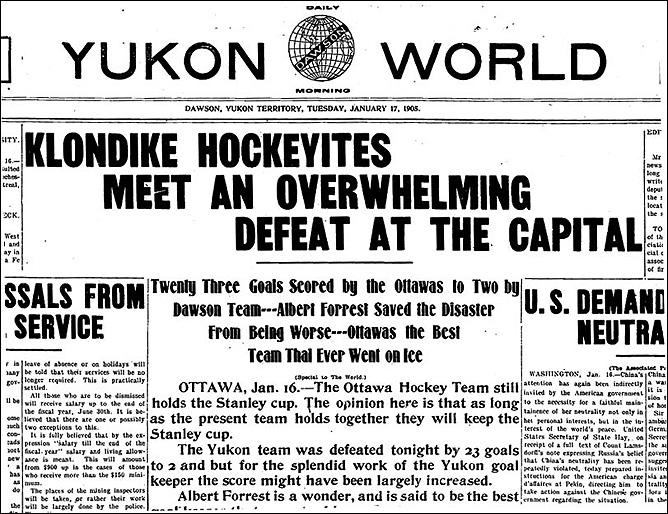 "История Кубка Стэнли. Сезон 1904/05. ""Yukon World""."