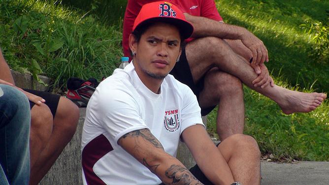 Травмированный Карлос Эдуардо наблюдал за игрой с трибуны
