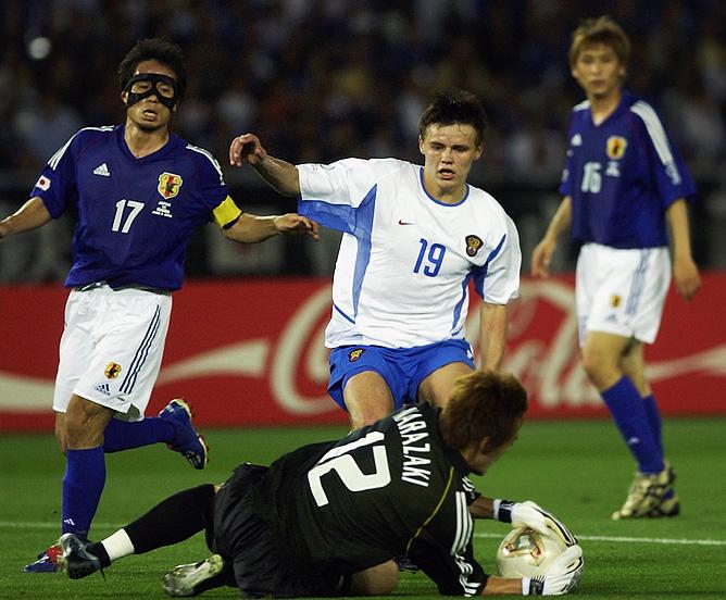 Руслан Пименов в матче Россия — Япония на ЧМ — 2002