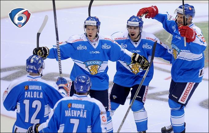 Условно третий состав сборной Финляндии обыграл в Сочи предолимпийскую российскую дружину