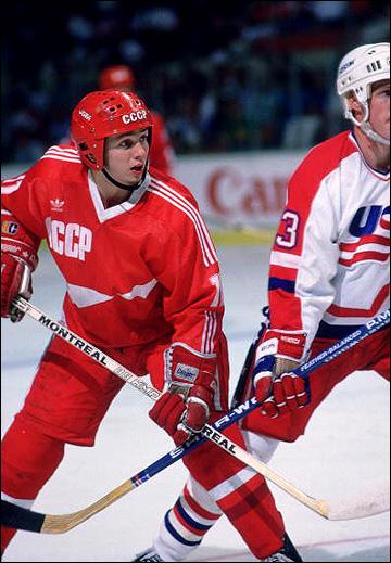 Игорь Ларионов на Кубке Мира, 1987 год