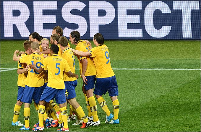 Радость сборной Швеции