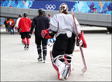Канадская сборная уже в Сочи, и уже тренируется