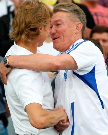 Валерий Карпин и Олег Блохин